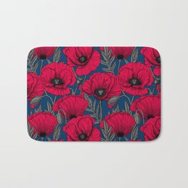 Night poppy garden  Bath Mat