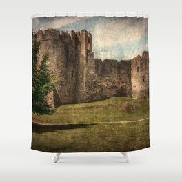 Chepstow Castle Towers Shower Curtain