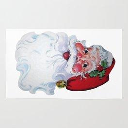 Vintage Style Jolly Santa  Rug