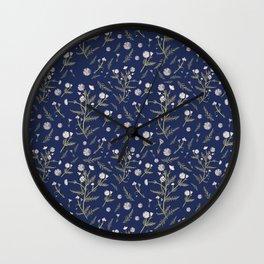 Chamomile Herb - Blue Wall Clock