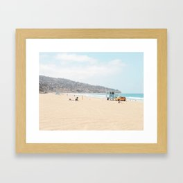 Redondo Beach // California Ocean Vibes Lifeguard Hut Surfing Sandy Beaches Summer Tanning Framed Art Print