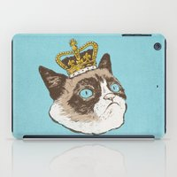 grumpy iPad Cases featuring Grumpy King by Chase Kunz