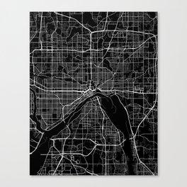 saint paul map minnesota Canvas Print
