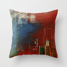 Death of Detriot - Skyline  Throw Pillow