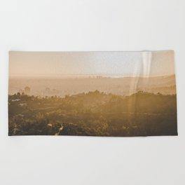 Golden Hour - Los Angeles, California Beach Towel
