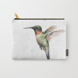 Hummingbird Watercolor Carry-All Pouch