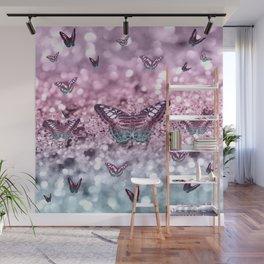 Pastel Unicorn Butterfly Glitter Dream #2 #shiny #decor #art #society6 Wall Mural