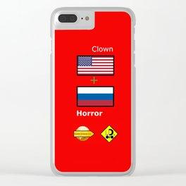 Clown Horror Clear iPhone Case