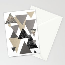 Geometric Triangles Glitter Dream #2 #minimal #decor #art #society6 Stationery Cards