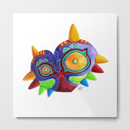 The Lost Mask Metal Print