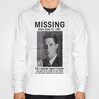 dale cooper Hoodies featuring Missing Dale Cooper ... 2016 by Allelujah