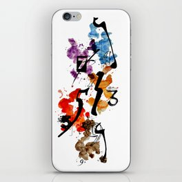 Typographic Number illustrations, watercolor,  3,4,5,7,9 by carographic iPhone Skin