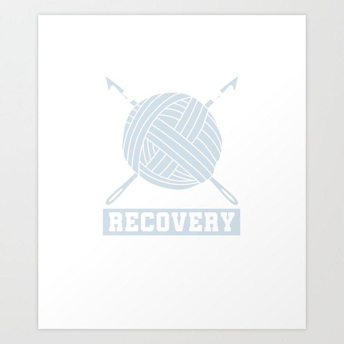 Crocheting Needlecraft Crocheter I'm A Crochetaholic On Recovery Crochet Gift Art Print