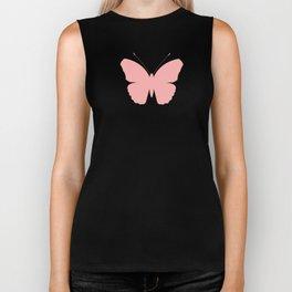 Pink Butterfly Design Biker Tank