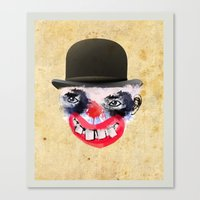 clown Canvas Prints featuring Clown by Ahmet Hacıoğlu