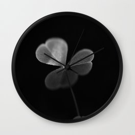 Oxalis in black and white Wall Clock