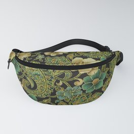 Pink Rose Paisley Floral Fanny Pack