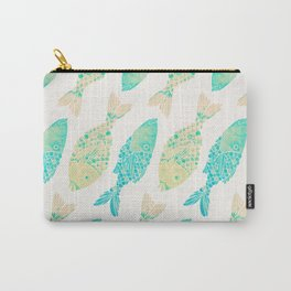 Indonesian Fish Duo – Turquoise & Cream Palette Carry-All Pouch