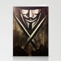 vendetta Stationery Cards featuring VENDETTA by The Traveling Catburys