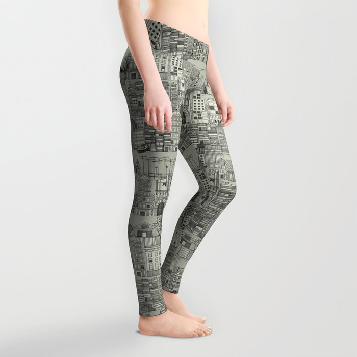 dystopian toile mono Leggings