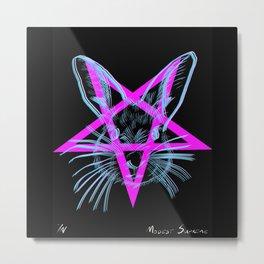 Pentagram Rabbit Metal Print