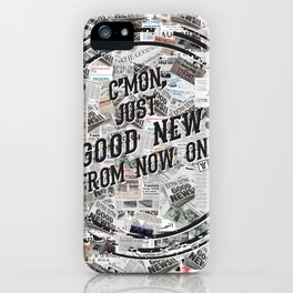 Just Good News iPhone Case