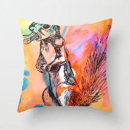 Pop art squirrel Throw Pillow
