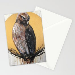 Hawk Vision // Bird Raptor Eagle Feather Wing Sun Spirit Animal Stationery Cards