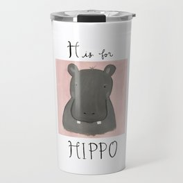 H is for Hippo Travel Mug