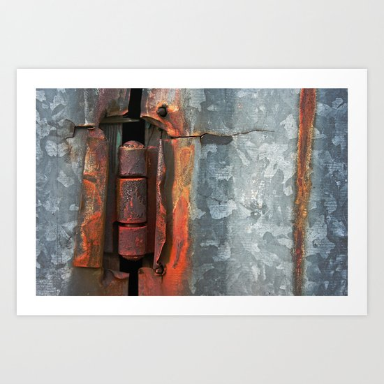 Hinge and Rust Wave Art Print