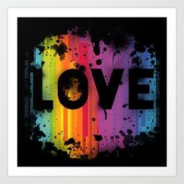 For Love - Black Background Art Print