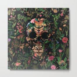 Papilion Skull Metal Print