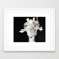 riff raff Framed Art Prints featuring G-Raff by Silent