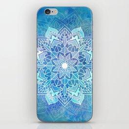 Mandala blue iPhone Skin