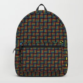 Rainbow Pattern: Black background Backpack