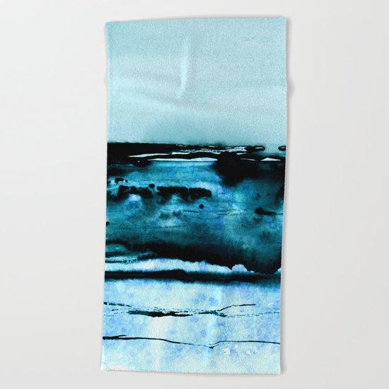marine luminescence Beach Towel