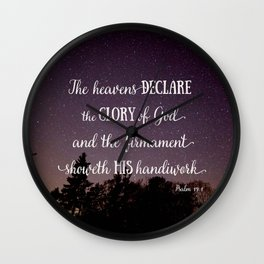 The Heavens Declare the Glory of God Wall Clock