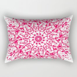 Red Star Mandala Rectangular Pillow