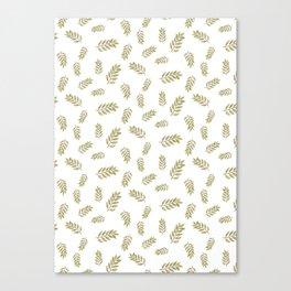 simple watercolor leaves Canvas Print