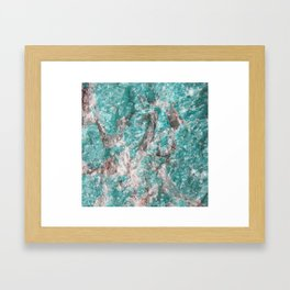 Amazonite Stone Framed Art Print