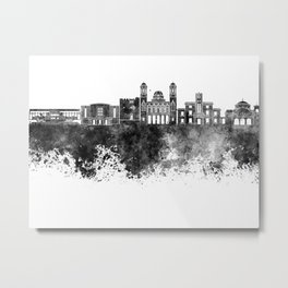 Limassol skyline in black watercolor Metal Print