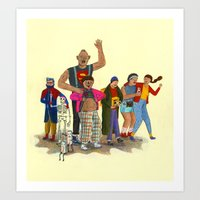 goonies Art Prints featuring the goonies by Robert Deutsch
