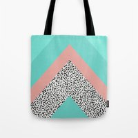90s Tote Bags featuring 90s Chevron by Zeke Tucker