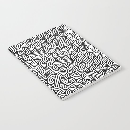 Black and white swirls doodles Notebook