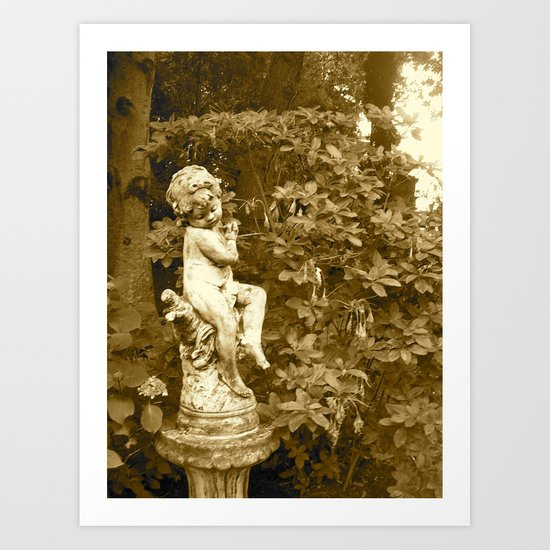 Irish Garden Statue  Art Print