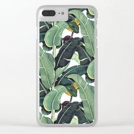 banana leaf pattern Clear iPhone Case