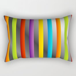 Colorful and shiny stripes on metal Rectangular Pillow