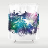 the wire Shower Curtains featuring Conscious Wire by Pulse of Prophets