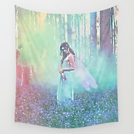 Fairy Blue Wall Tapestry