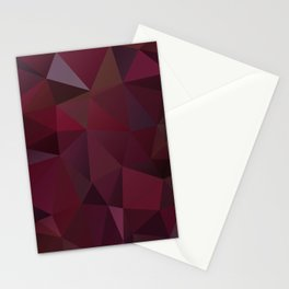 Abstract background of triangles polygon design red marsala colors Stationery Cards